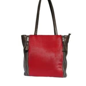 taschen_stilvoll_rote Fell-Tasche 1